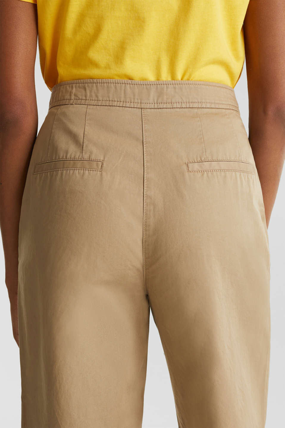 Sporty culottes, 100% cotton, BEIGE, detail image number 5