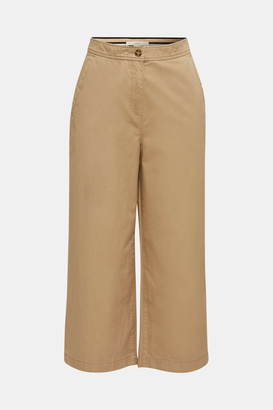 Sporty culottes, 100% cotton, BEIGE, detail image number 7