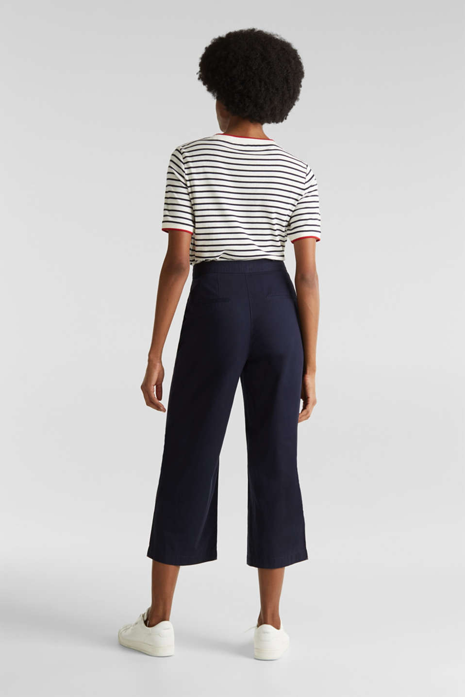 Sporty culottes, 100% cotton, NAVY, detail image number 3