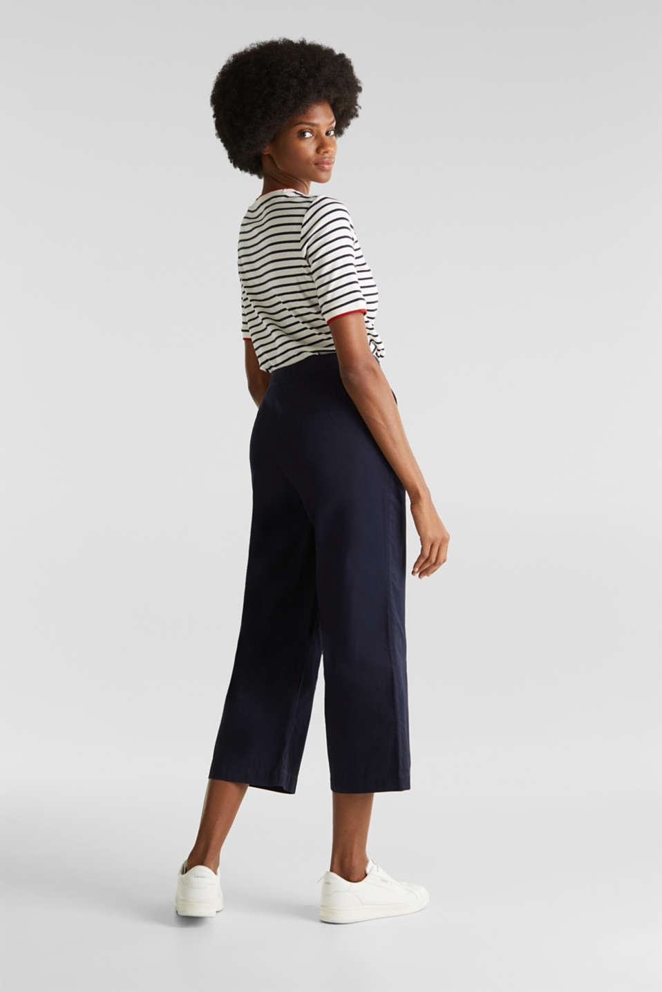 Sporty culottes, 100% cotton, NAVY, detail image number 5