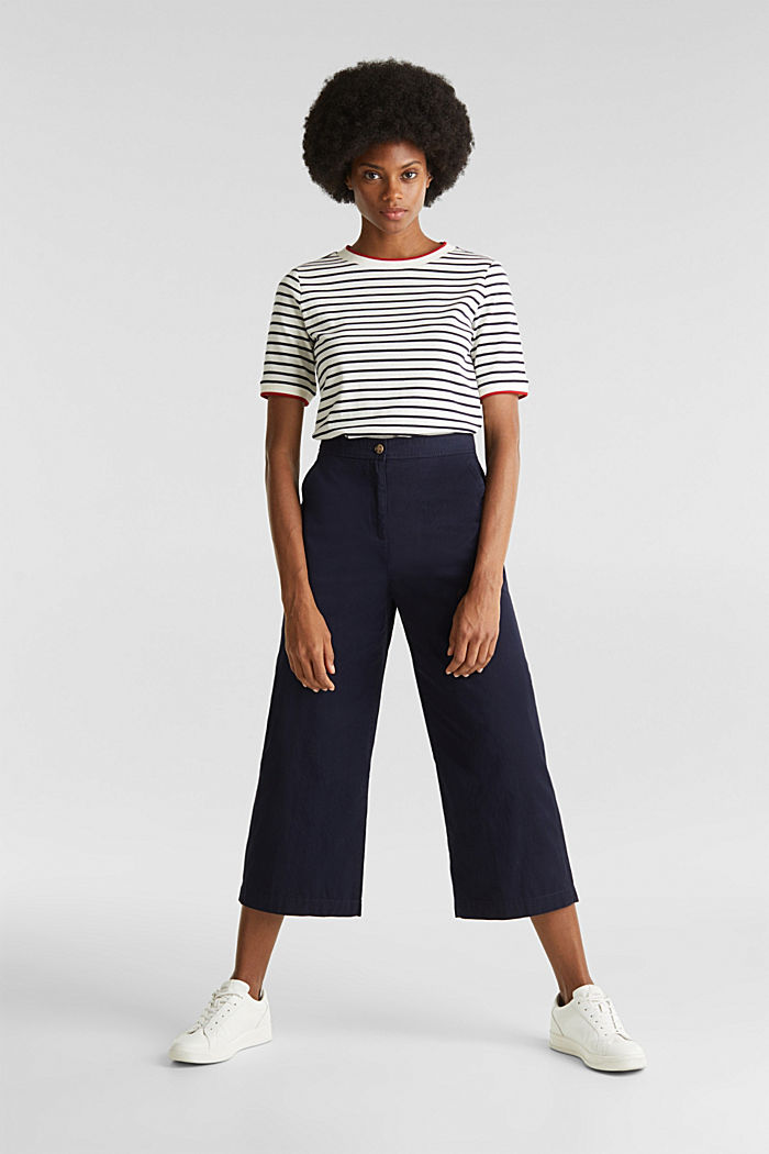 Culottes made of 100% cotton, NAVY, detail image number 1
