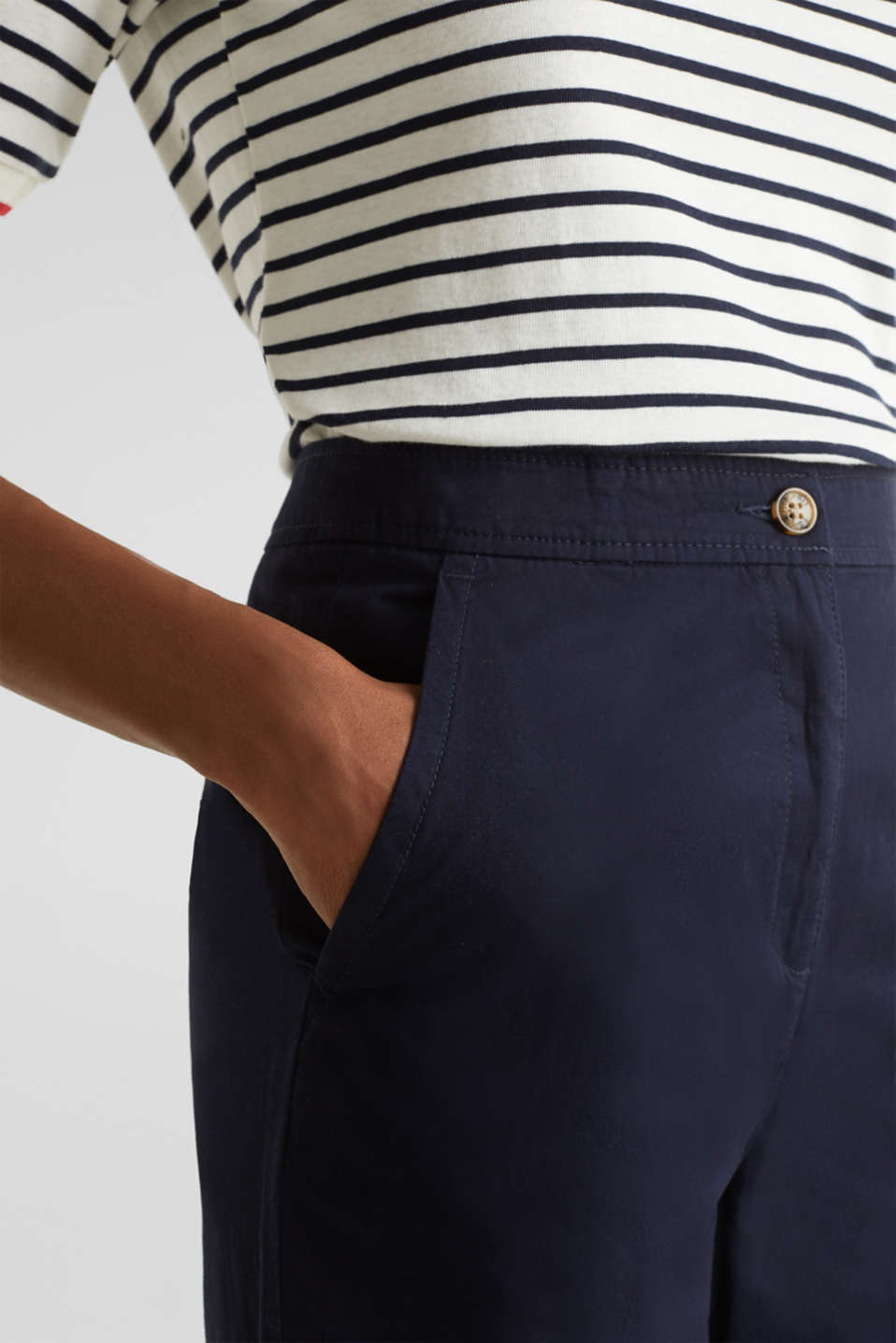 Sporty culottes, 100% cotton, NAVY, detail image number 2