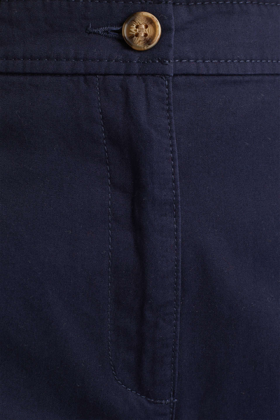 Sporty culottes, 100% cotton, NAVY, detail image number 4