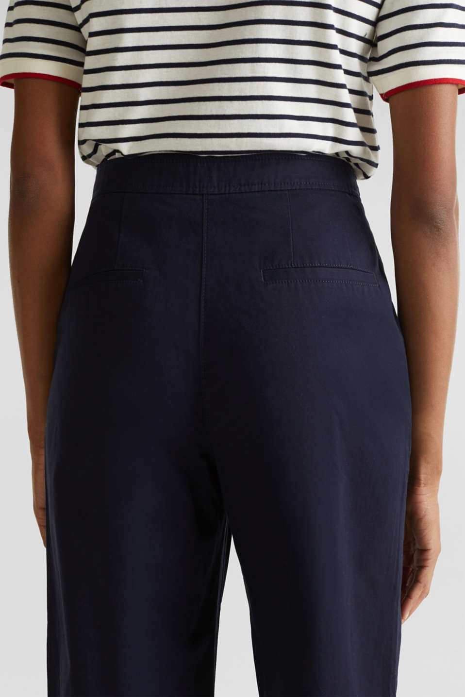 Sporty culottes, 100% cotton, NAVY, detail image number 6