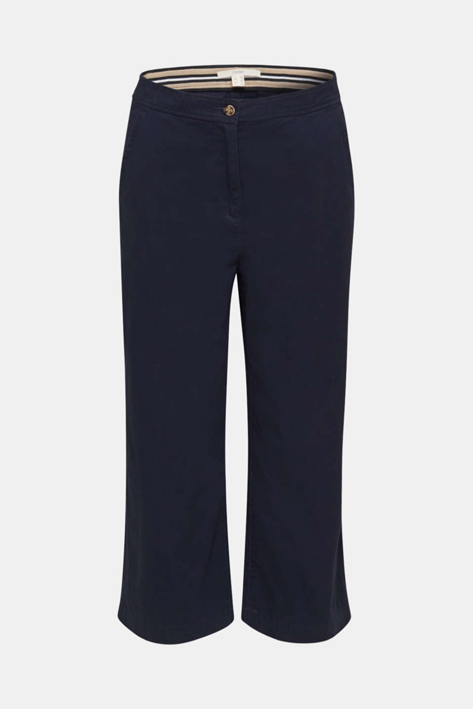 Sporty culottes, 100% cotton, NAVY, detail image number 8
