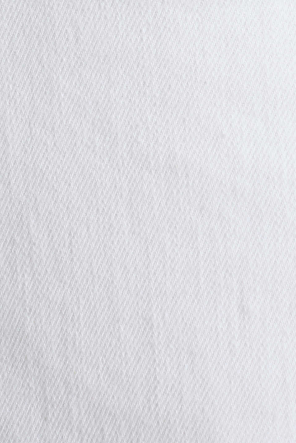 Stretch jeans with a high waistband, WHITE, detail image number 4