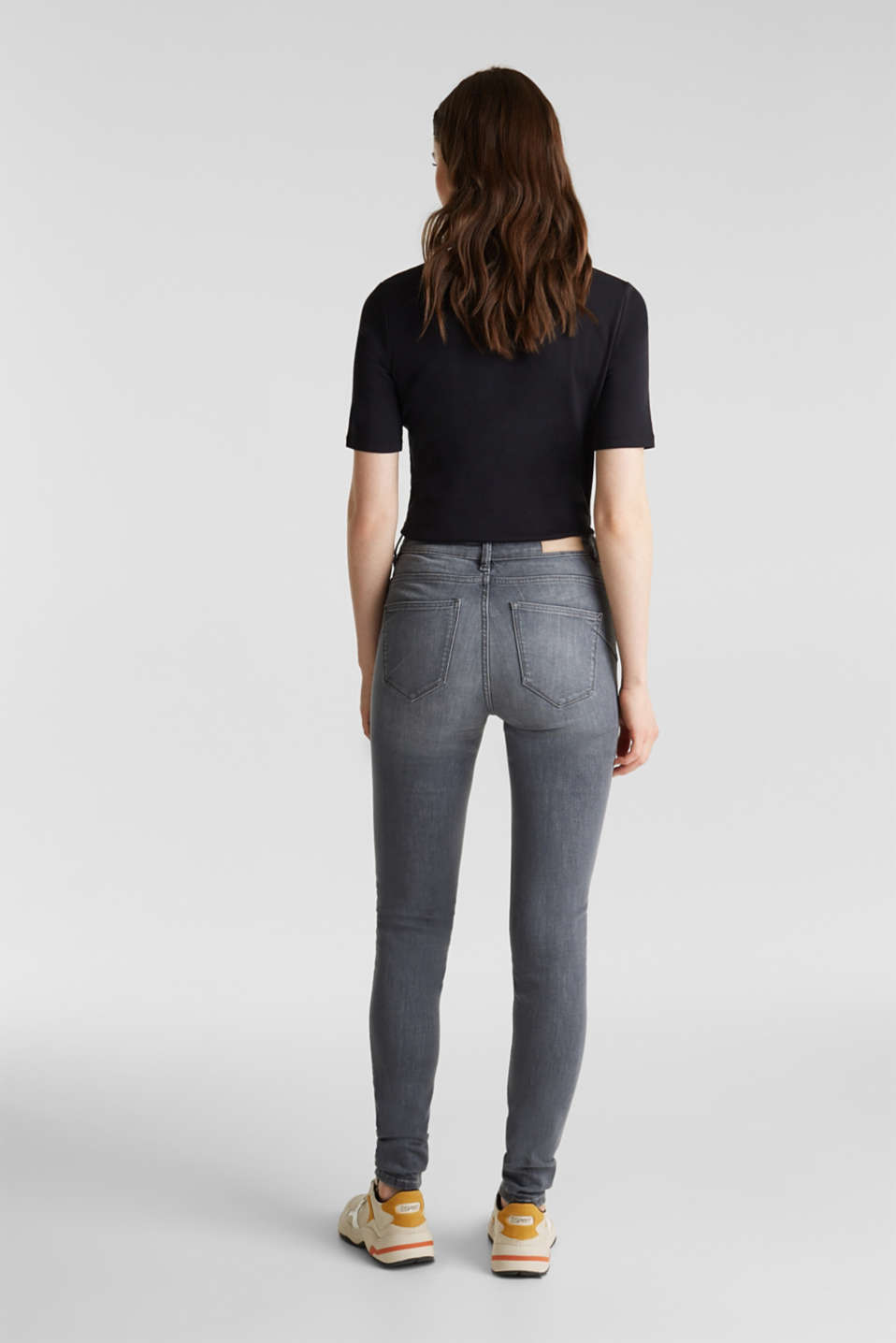 Shaping jeans with a high-waisted waistband, GREY MEDIUM WASH, detail image number 3