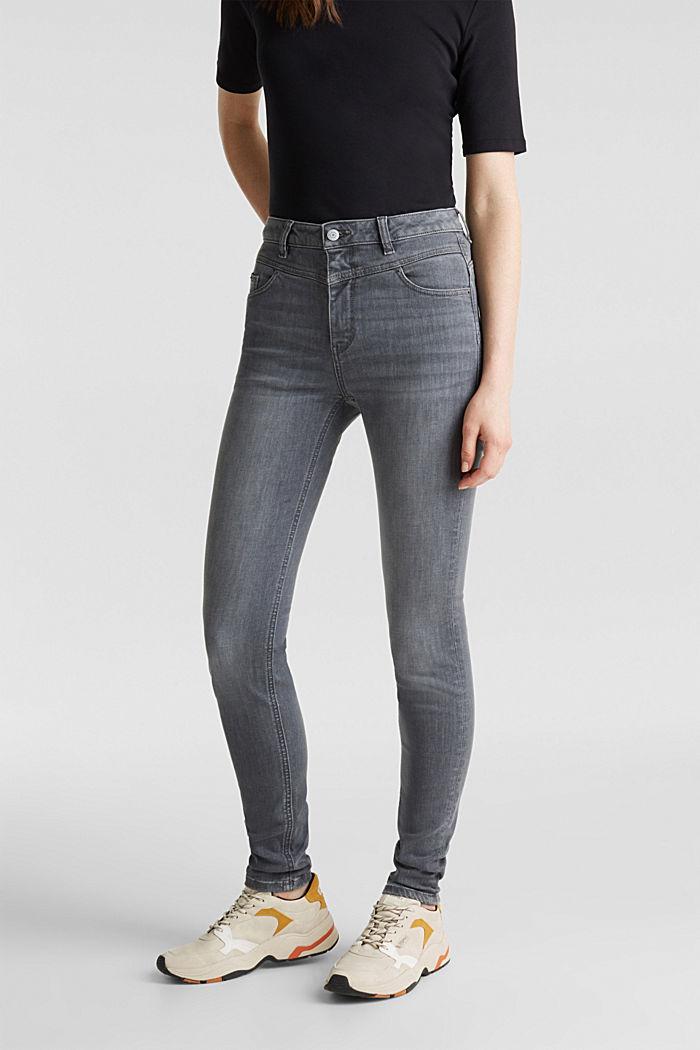 Shaping-Jeans mit High-Waist-Bund, GREY MEDIUM WASHED, detail image number 6