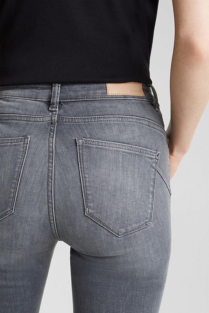 Shaping-Jeans mit High-Waist-Bund, GREY MEDIUM WASHED, detail image number 5