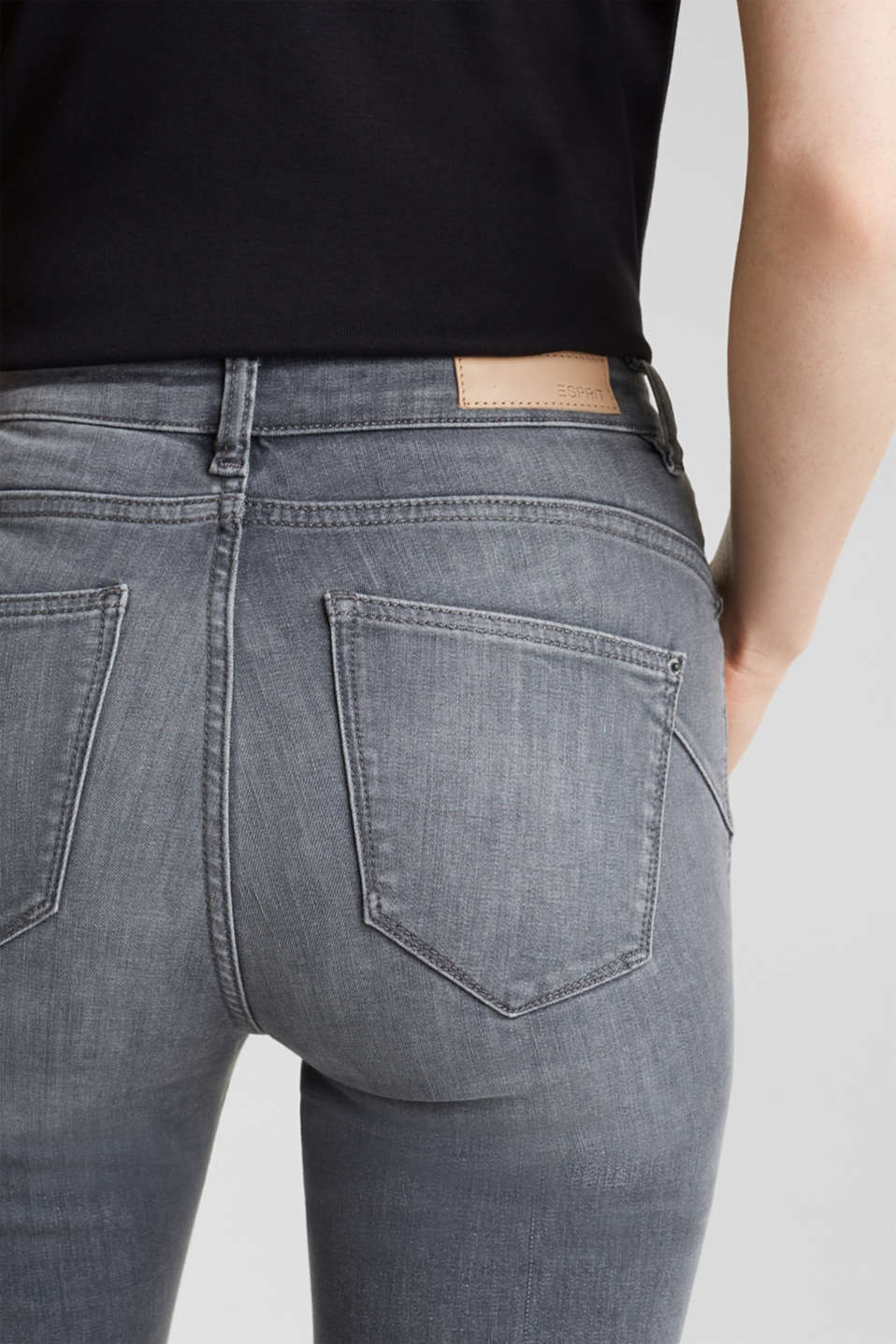 Shaping jeans with a high-waisted waistband, GREY MEDIUM WASH, detail image number 5