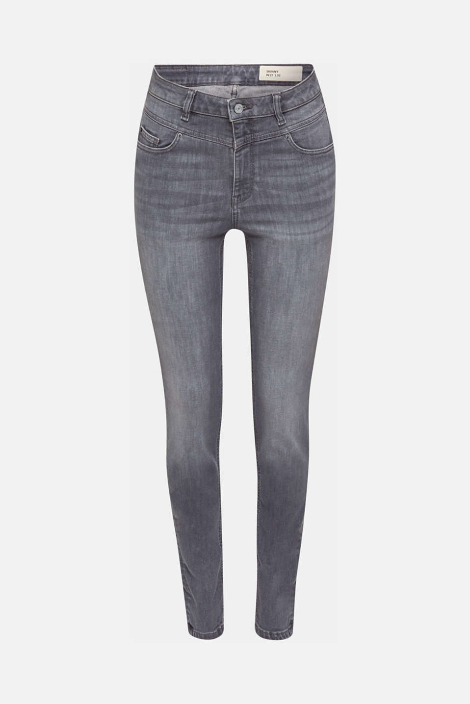 Shaping jeans with a high-waisted waistband, GREY MEDIUM WASH, detail image number 7