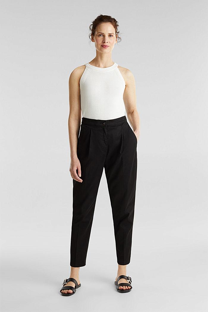 Mit TENCEL™: Pants mit Bundfalten