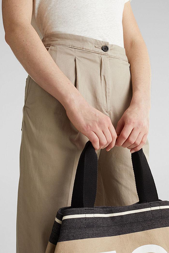 Mit TENCEL™: Pants mit Bundfalten, BEIGE, detail image number 2