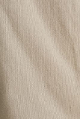 With TENCEL™: Trousers with waist pleats, BEIGE, detail