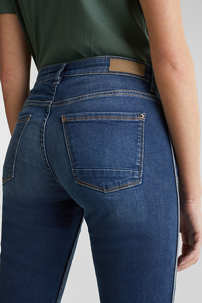 Jeans with piping, BLUE MEDIUM WASHED, detail image number 5