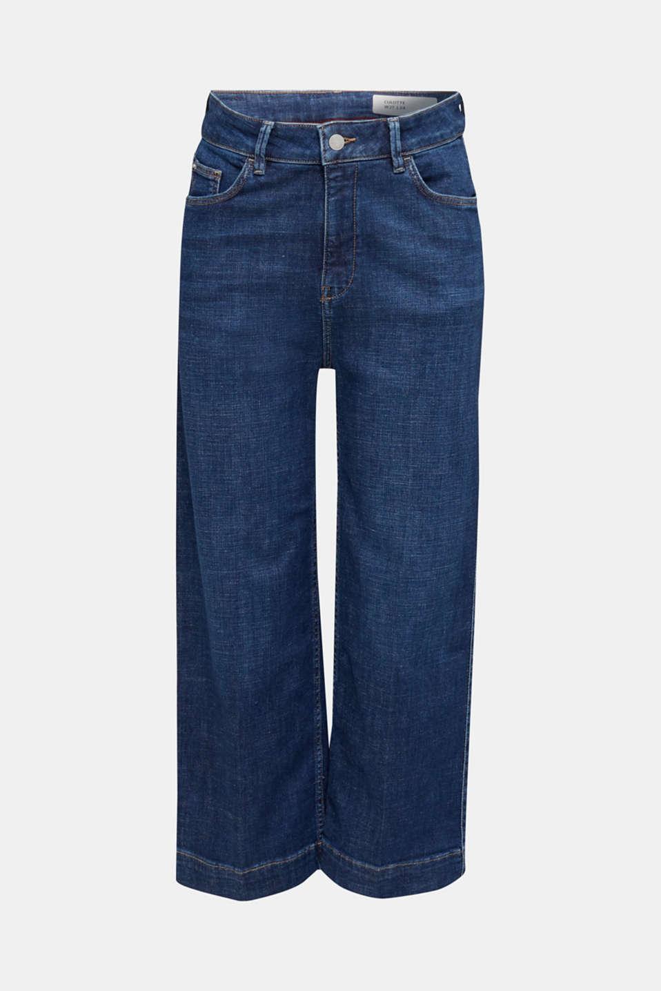 Denim culottes with Lycra®, BLUE DARK WASH, detail image number 6