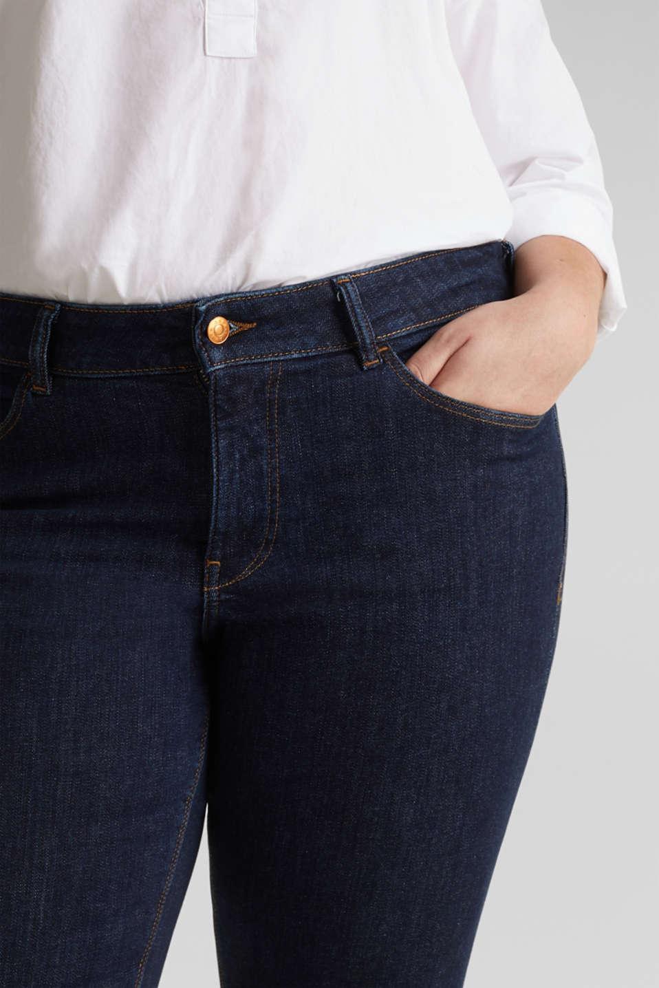 CURVY Basic-Jeans mit Stretchkomfort, BLUE RINSE, detail image number 2