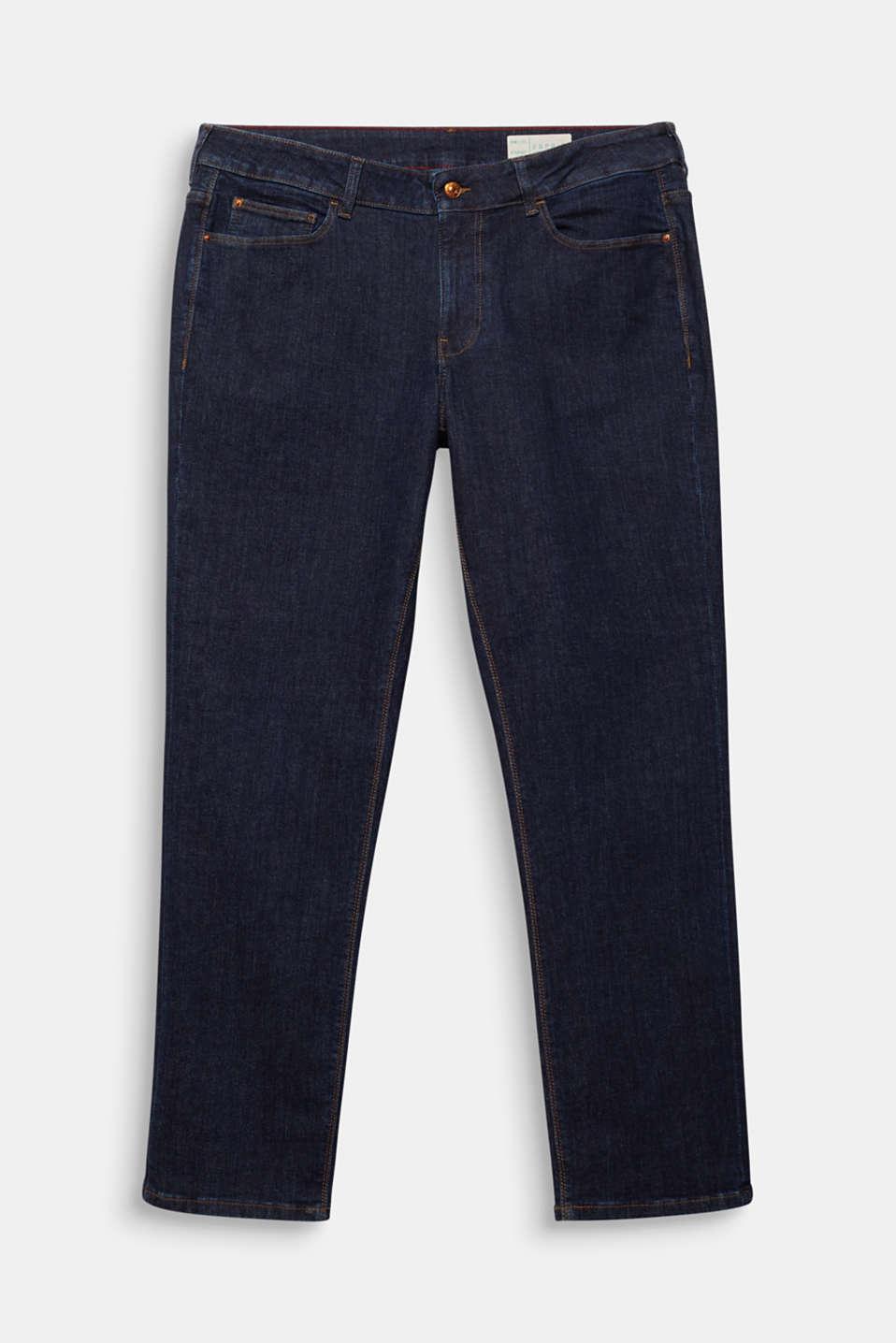CURVY Basic-Jeans mit Stretchkomfort, BLUE RINSE, detail image number 7