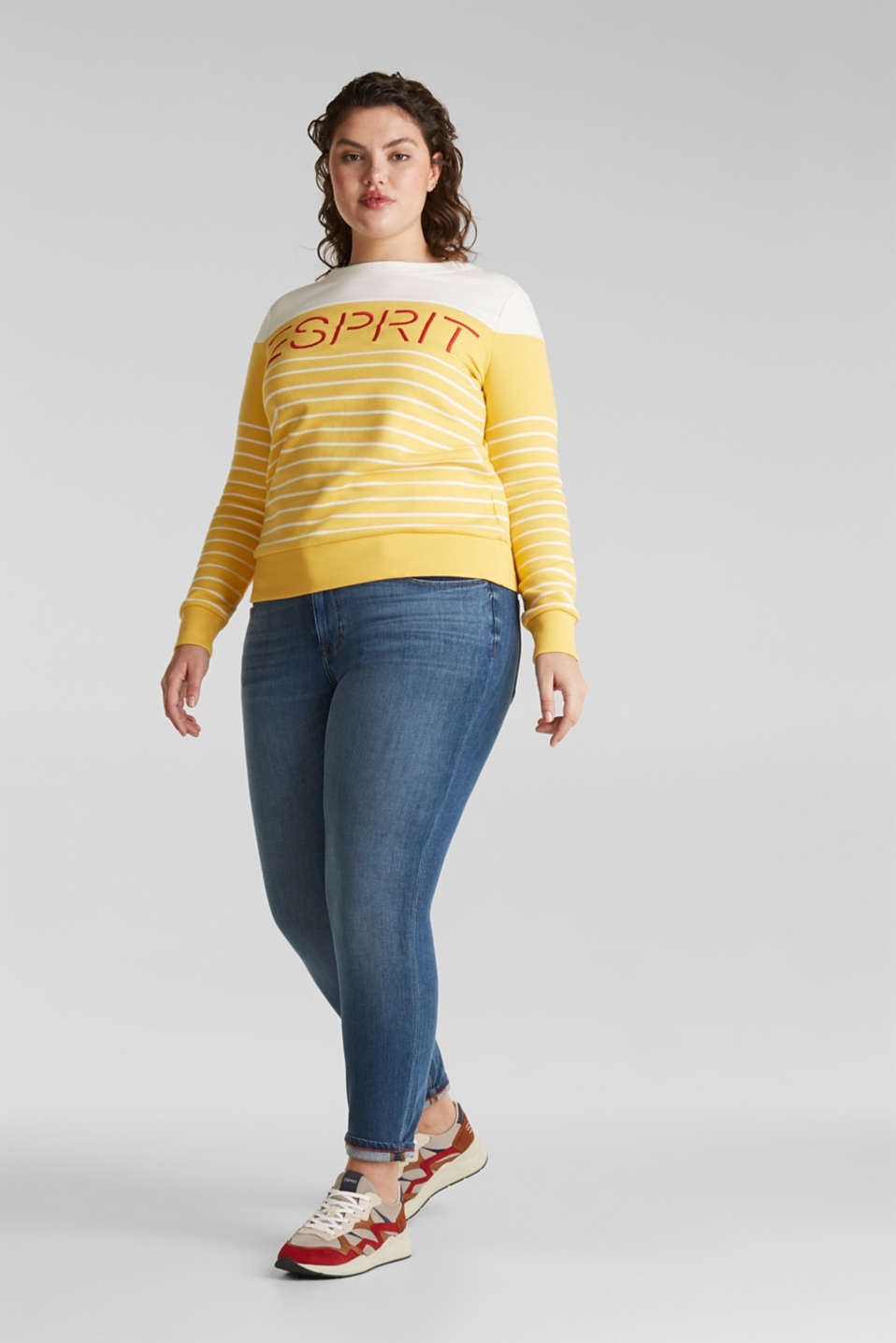 Esprit - CURVY Smala jeans med bi-stretch
