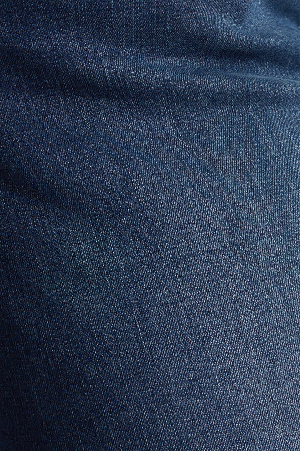 CURVY basic jeans with stretch, BLUE DARK WASH, detail image number 4