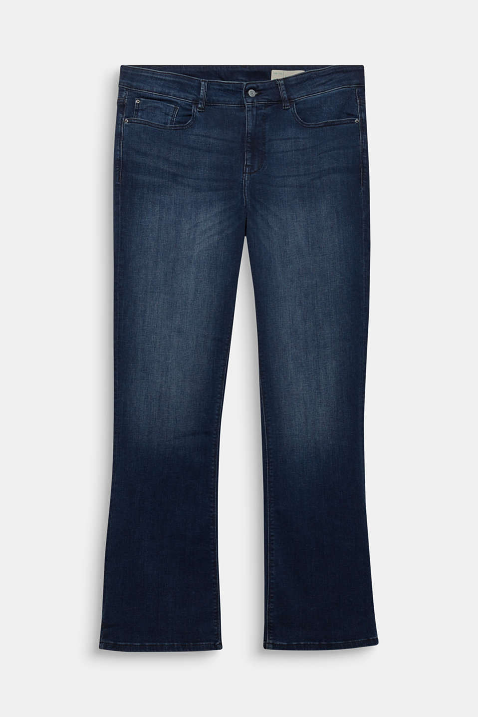 CURVY basic jeans with stretch, BLUE DARK WASH, detail image number 6