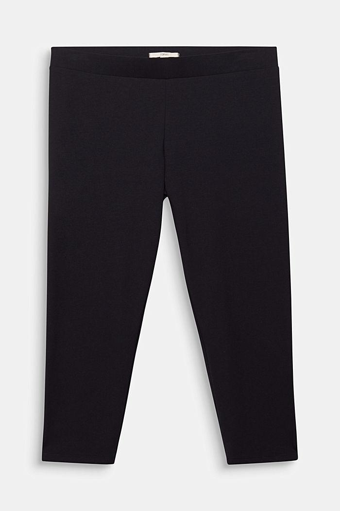CURVY Capri-Leggings, BLACK, detail image number 0