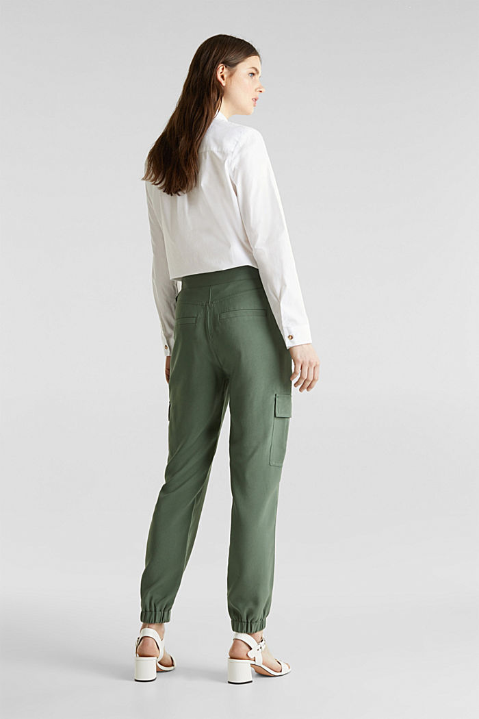 Jogger-Pants im Utility-Look, KHAKI GREEN, detail image number 3