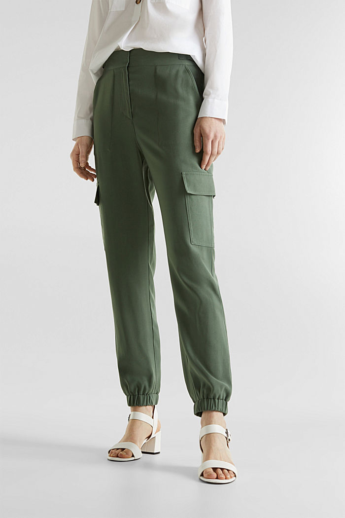 Jogger-Pants im Utility-Look, KHAKI GREEN, detail image number 6