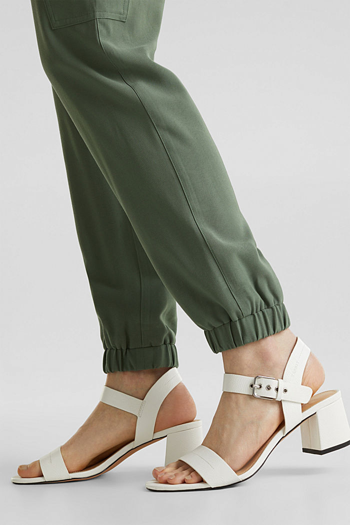 Jogger-Pants im Utility-Look, KHAKI GREEN, detail image number 5