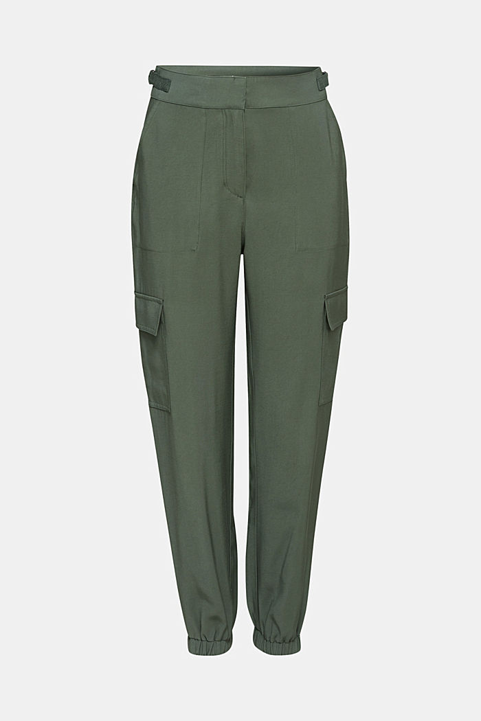Jogger-Pants im Utility-Look, KHAKI GREEN, detail image number 7