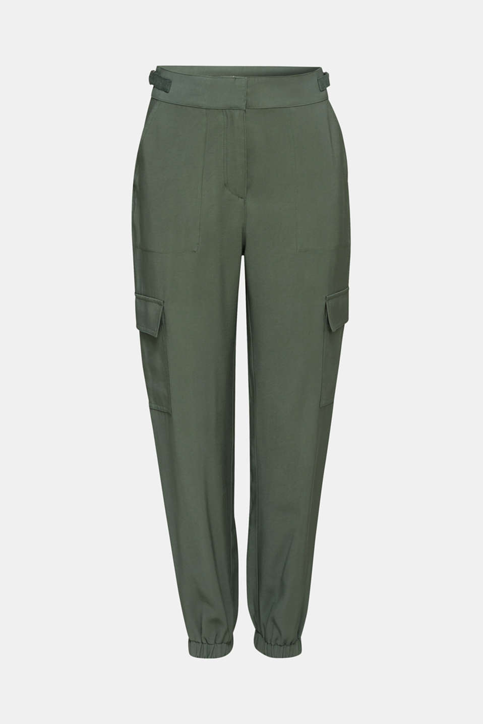 Tracksuit bottoms in a utility look, KHAKI GREEN, detail image number 7