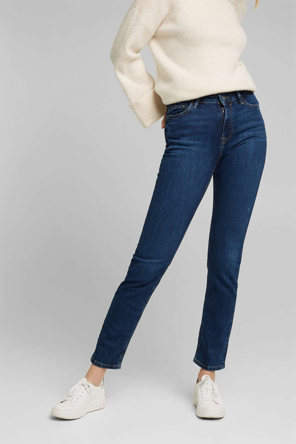 TENCEL™ jeans with organic cotton, BLUE DARK WASH, detail image number 0