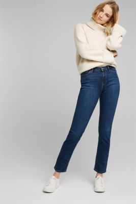 TENCEL™ jeans with organic cotton, BLUE DARK WASH, detail