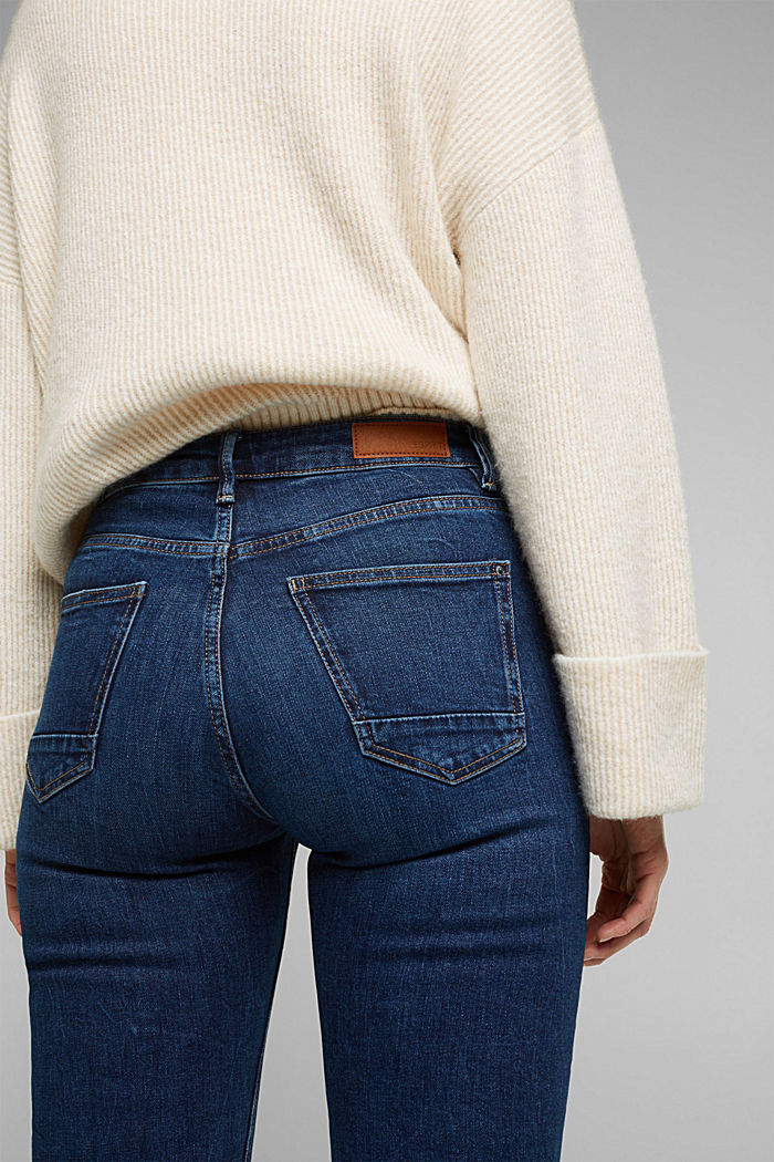 TENCEL™-Jeans mit Organic Cotton, BLUE DARK WASHED, detail image number 4