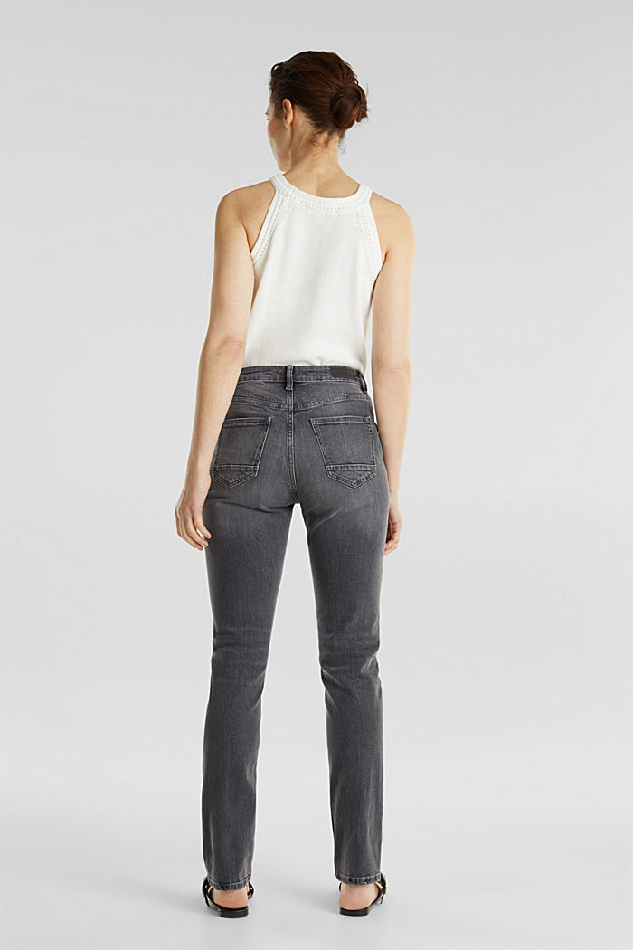 High-waisted jeans with TENCEL™, GREY MEDIUM WASHED, detail image number 3