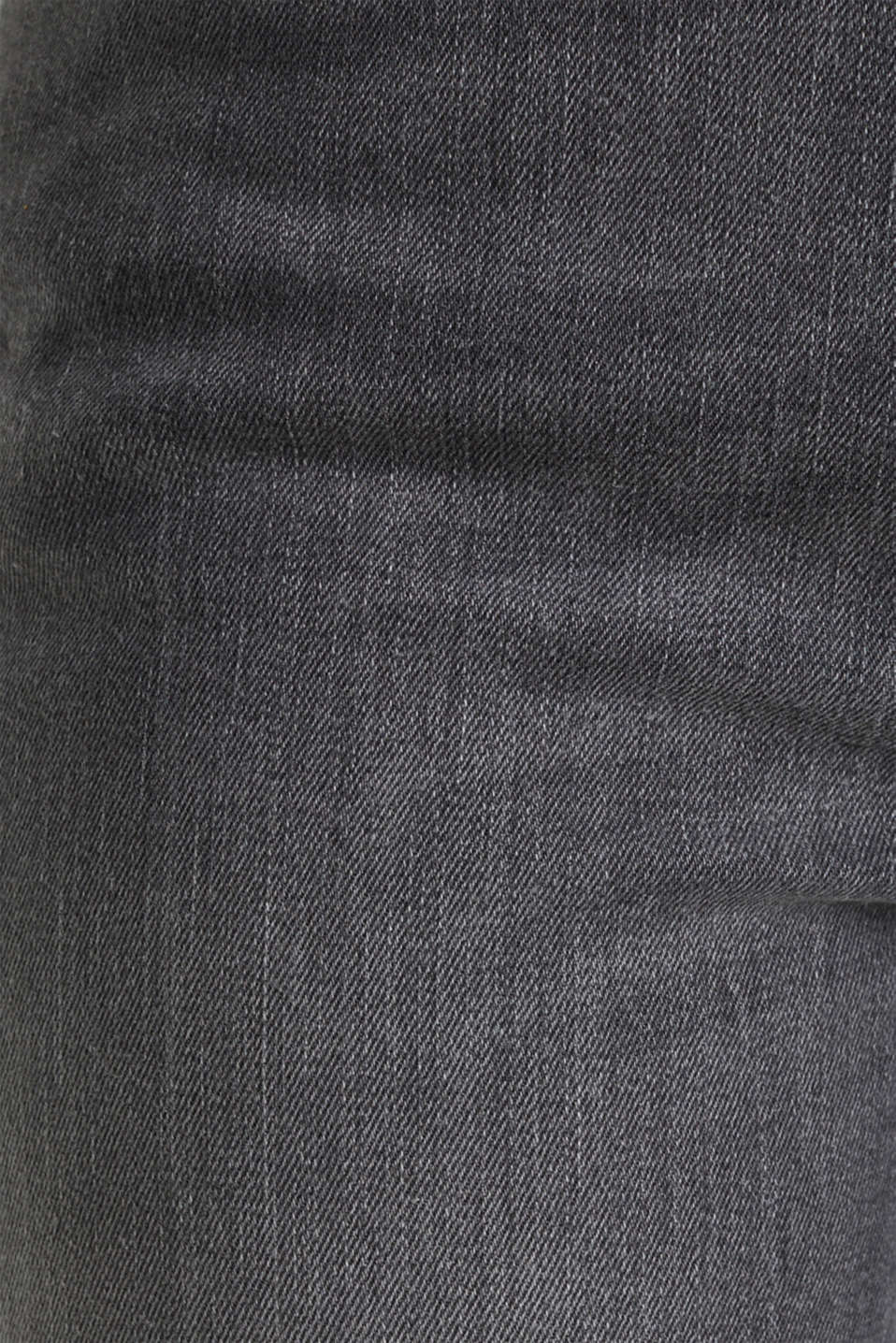 High-waisted jeans with TENCEL™, GREY MEDIUM WASH, detail image number 4