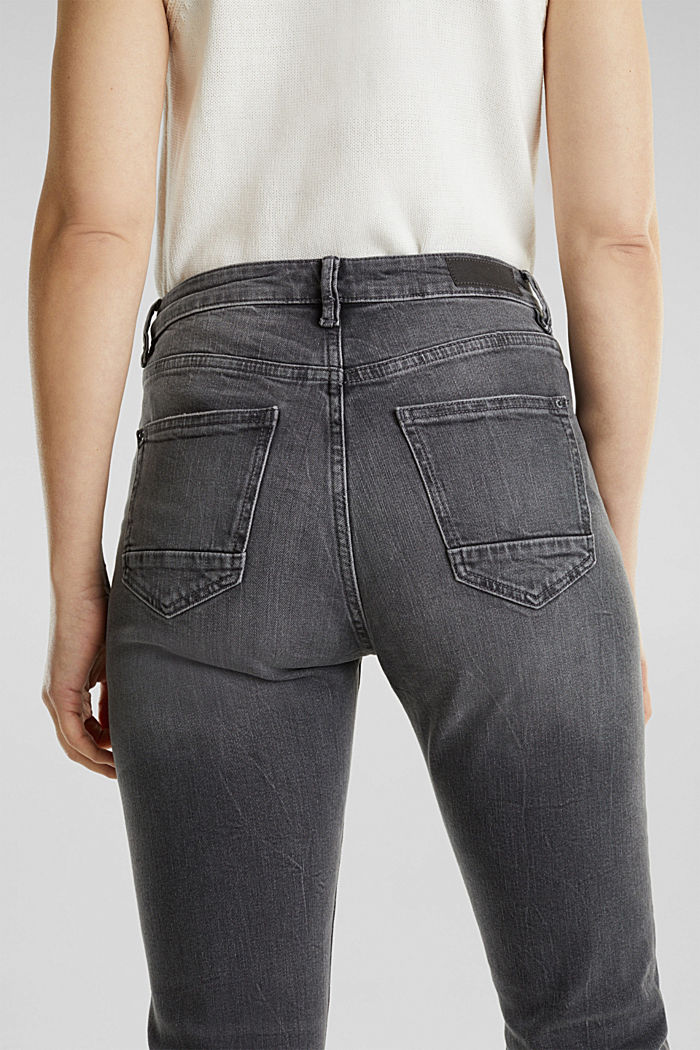 High-waisted jeans with TENCEL™, GREY MEDIUM WASHED, detail image number 5