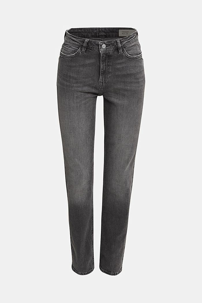 High-waisted jeans with TENCEL™, GREY MEDIUM WASHED, detail image number 6