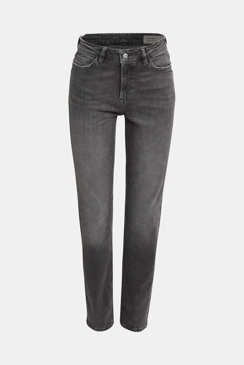 High-waisted jeans with TENCEL™, GREY MEDIUM WASH, detail image number 6