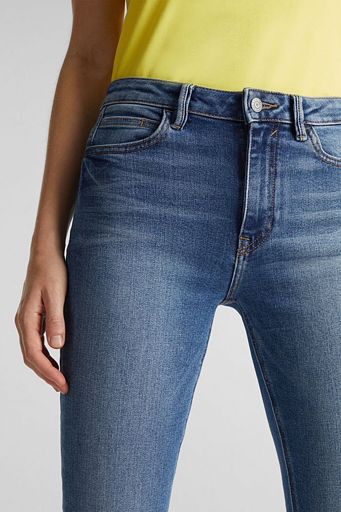 Jeans with a garment-washed effect, BLUE MEDIUM WASHED, detail image number 2
