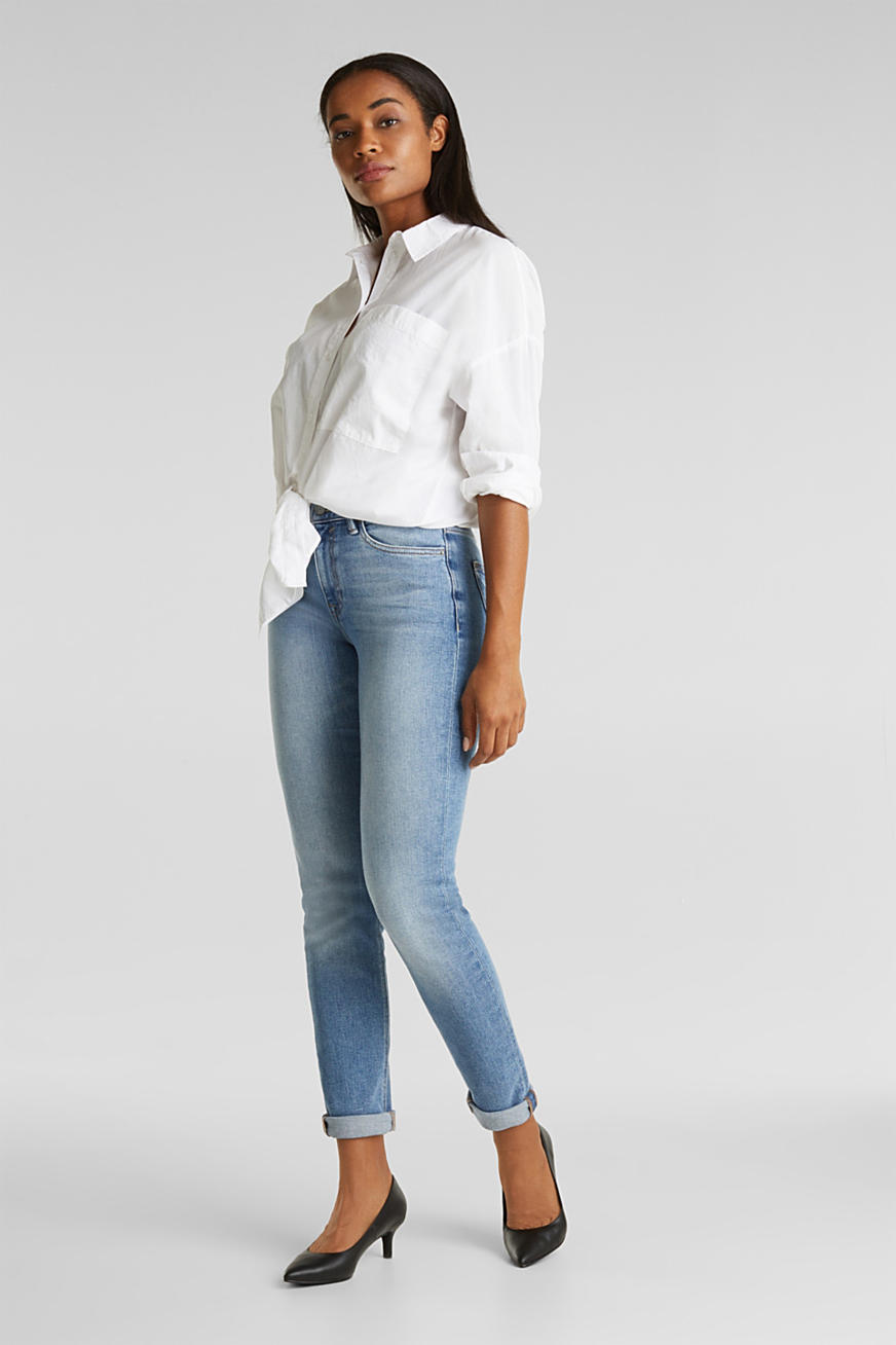 Jeans with a garment-washed effect
