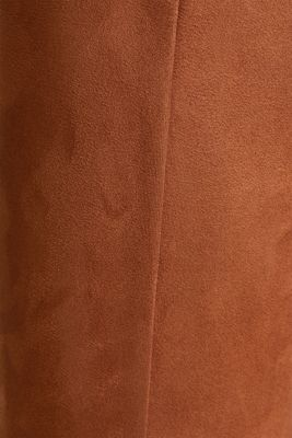 High-rise treggings in faux suede, TOFFEE, detail