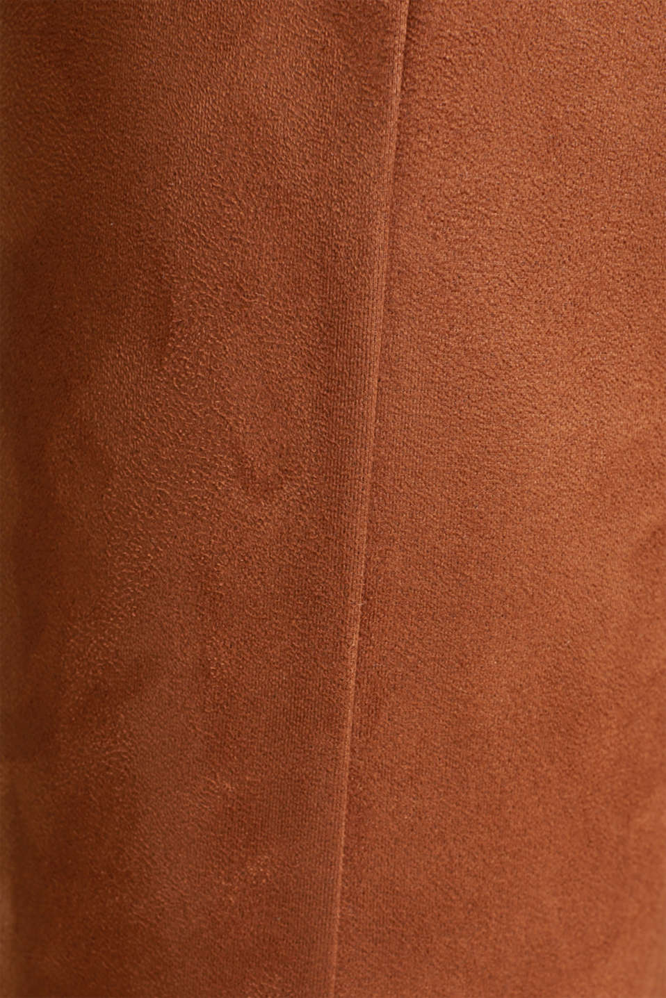 High-rise treggings in faux suede, TOFFEE, detail image number 4