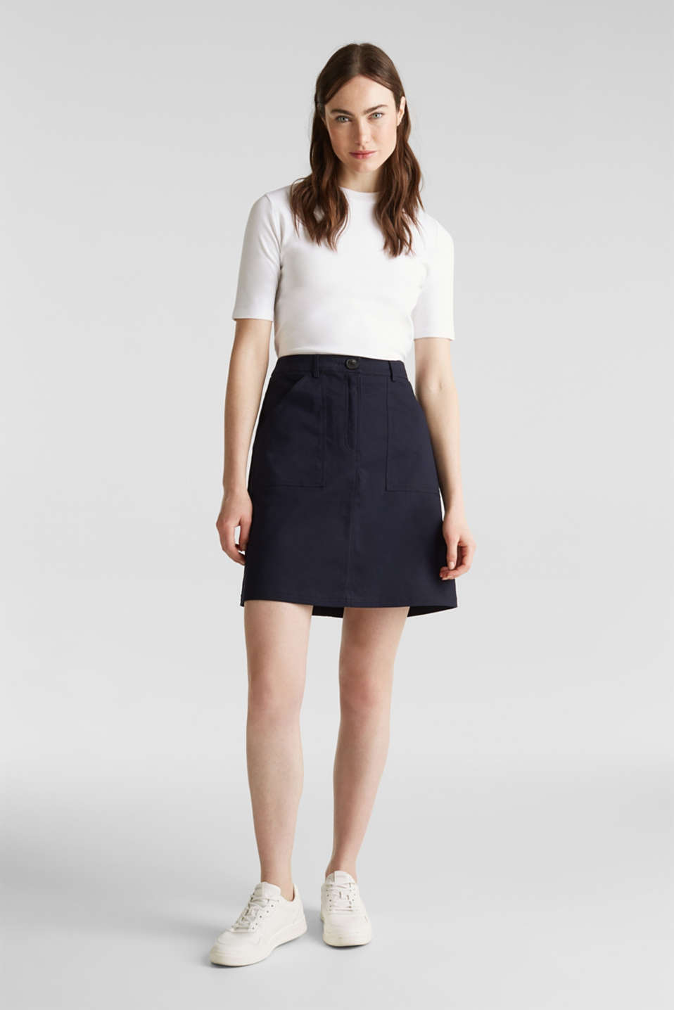 Esprit - Mini skirt with patch pockets