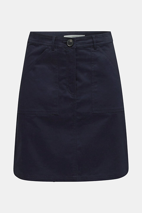 Mini skirt with patch pockets