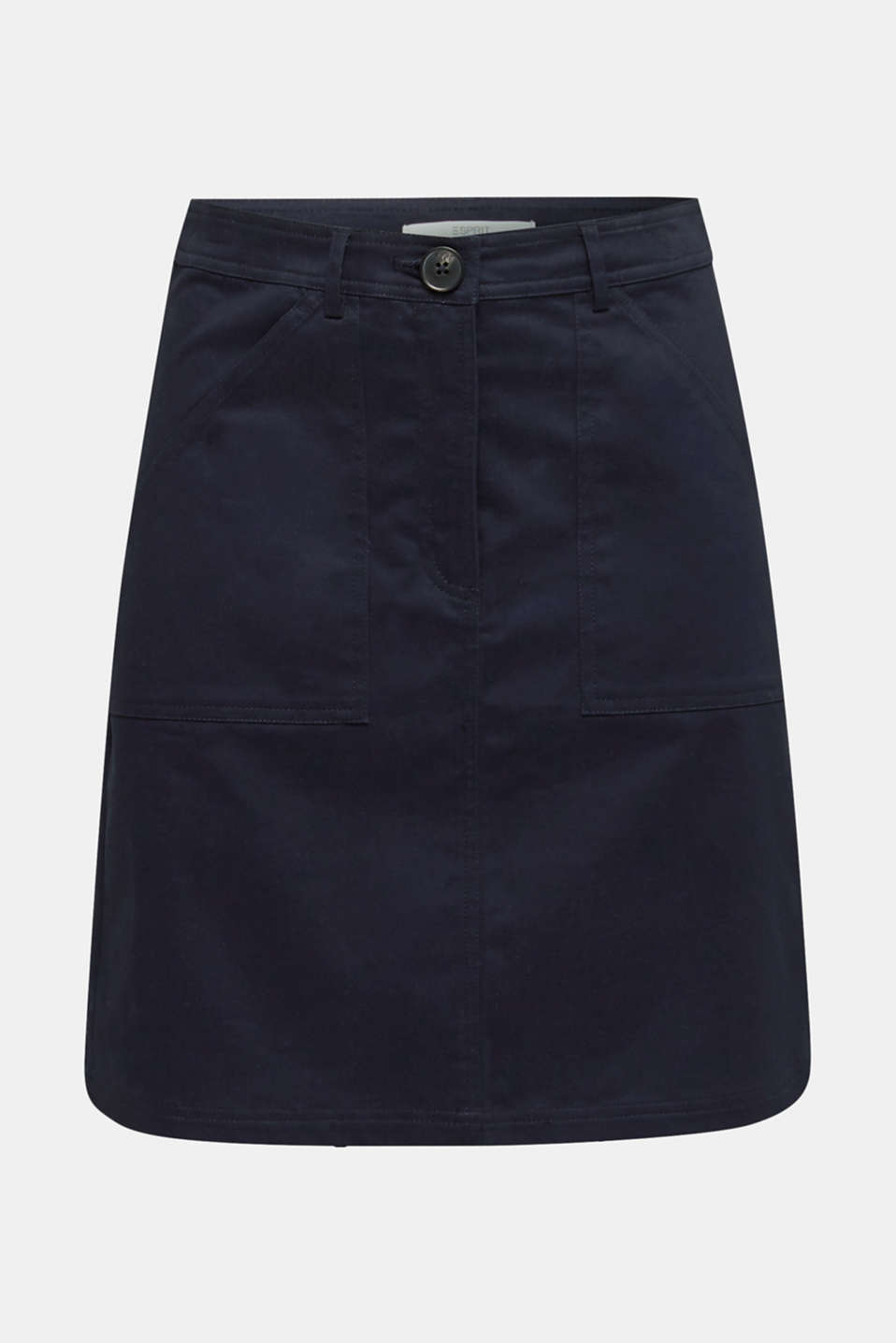 Mini skirt with patch pockets, NAVY, detail image number 7
