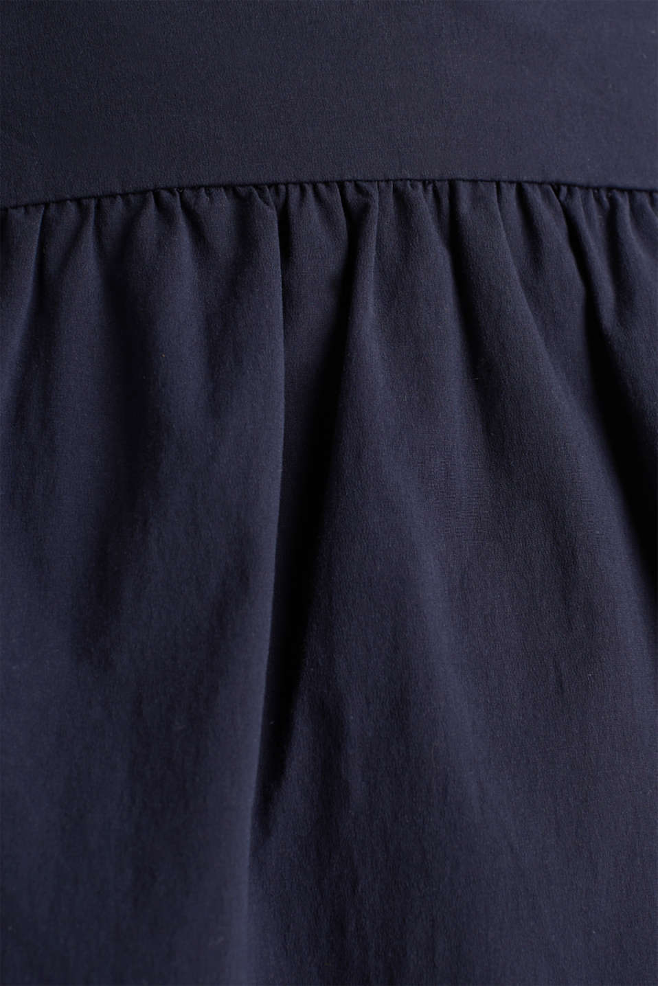 Flared poplin skirt with a belt, NAVY, detail image number 3