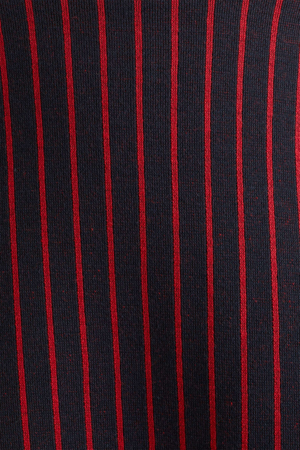 Flared sweatshirt fabric skirt with stripes, NAVY 2, detail image number 4