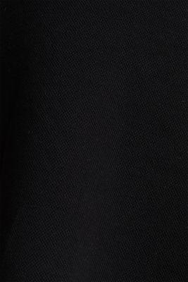 Flared stretch piqué skirt, BLACK, detail