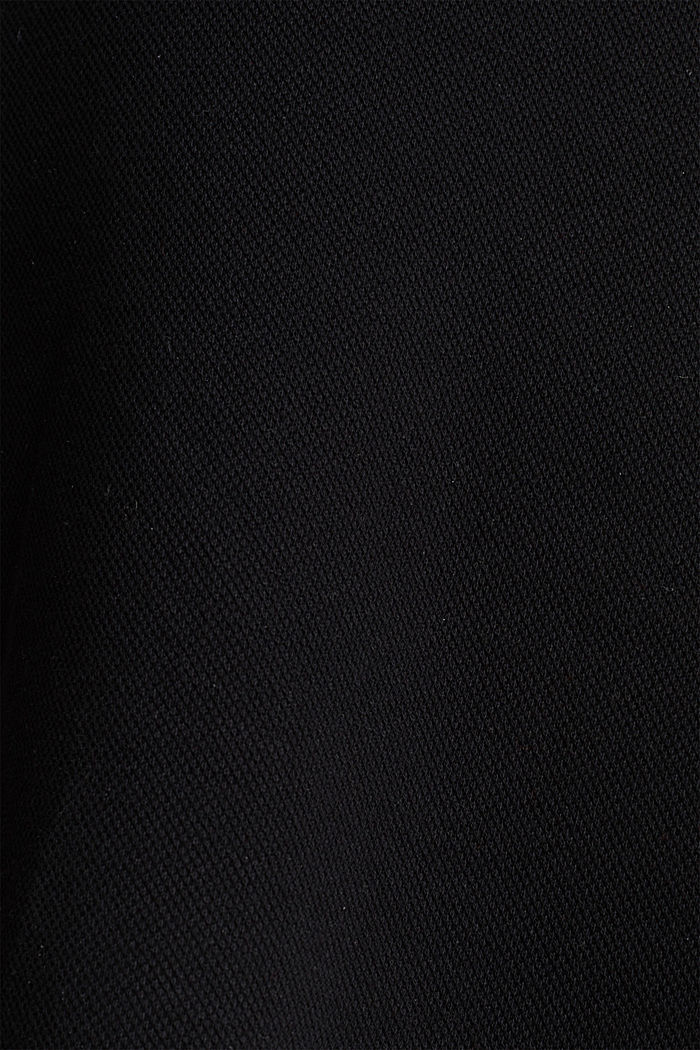 Rozszerzana spódnica z piki i streczu, BLACK, detail image number 3